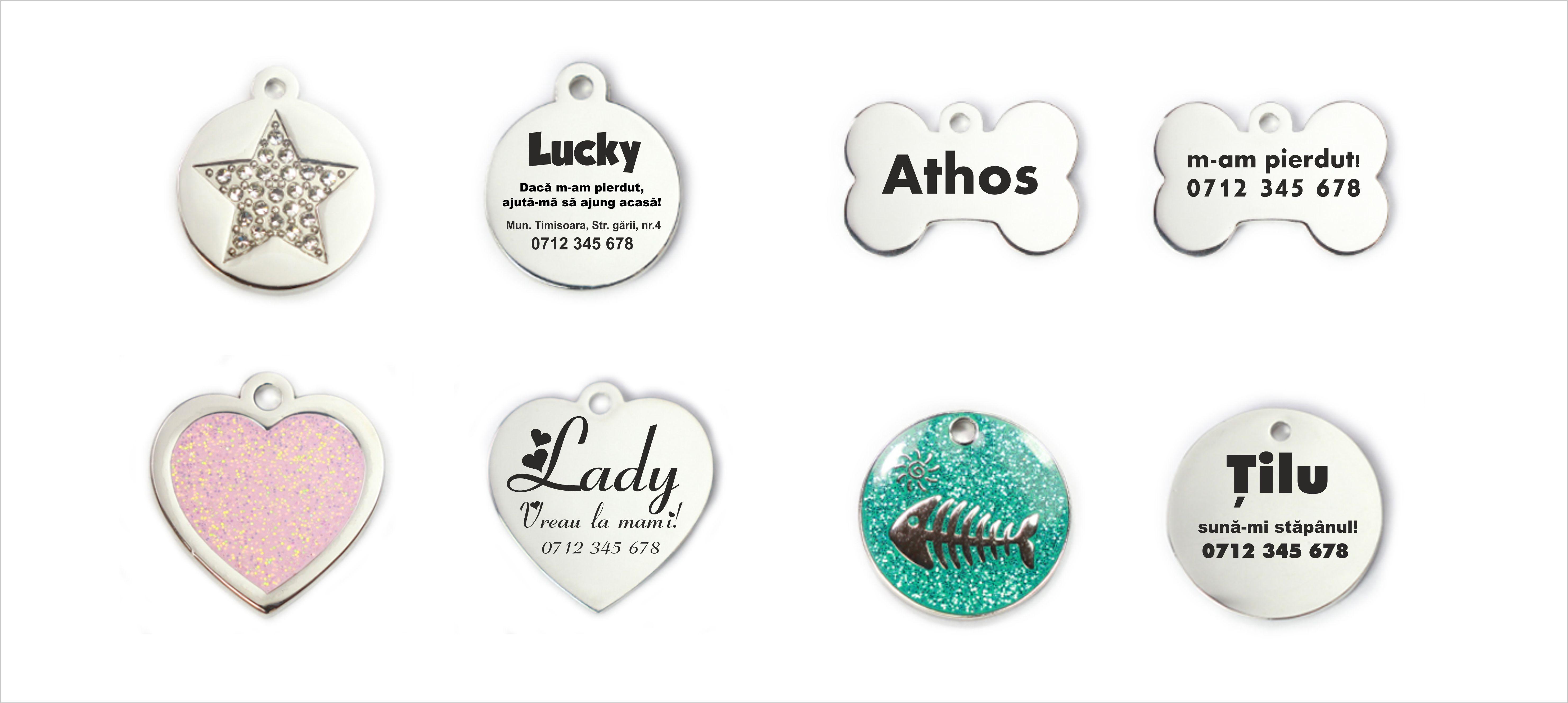 Lucky pet medalioane personalizate animale companie romania
