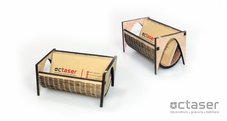 suport carti de vizita debitare laser