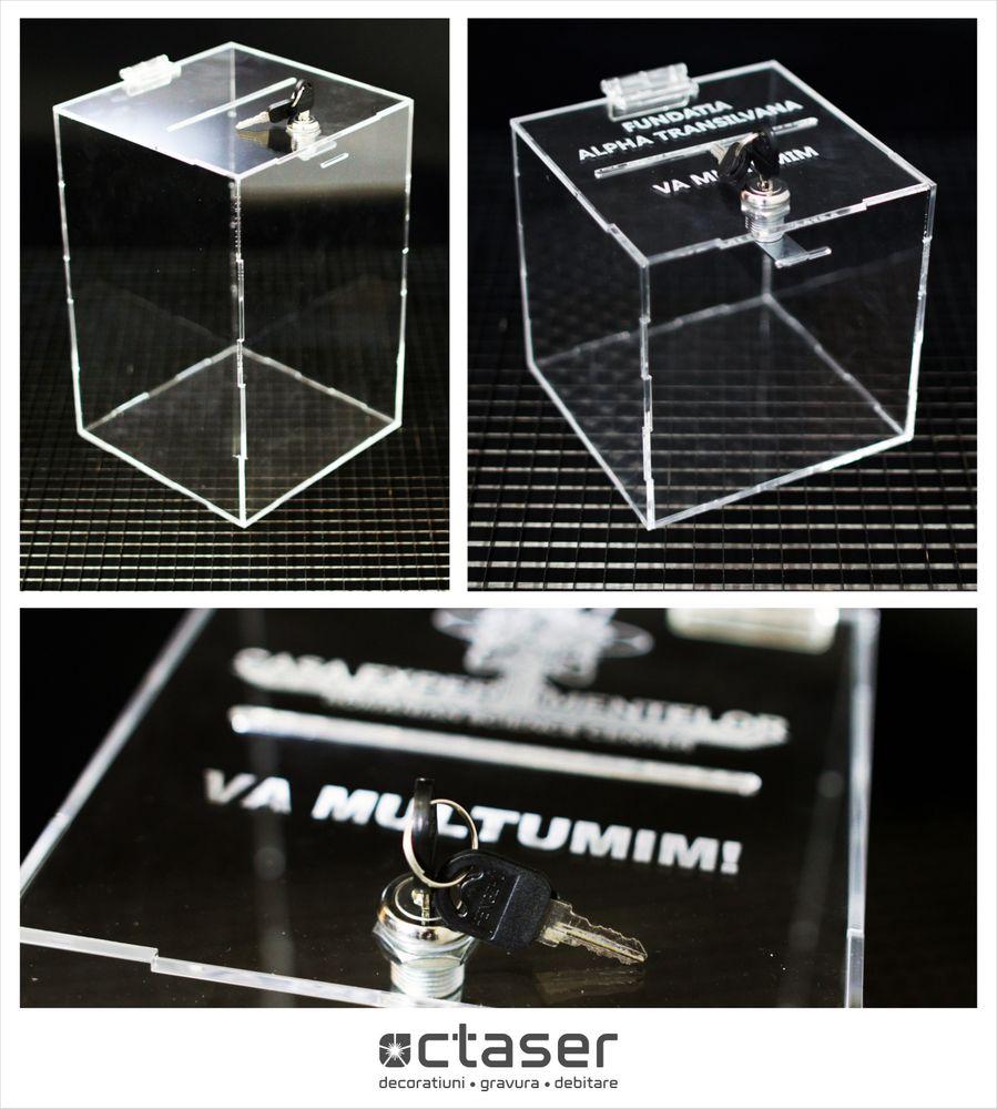 urne plexiglas cutii plexiglas donatie