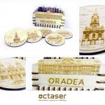 Suport pahar (coaster) / Suvenir cu Oradea