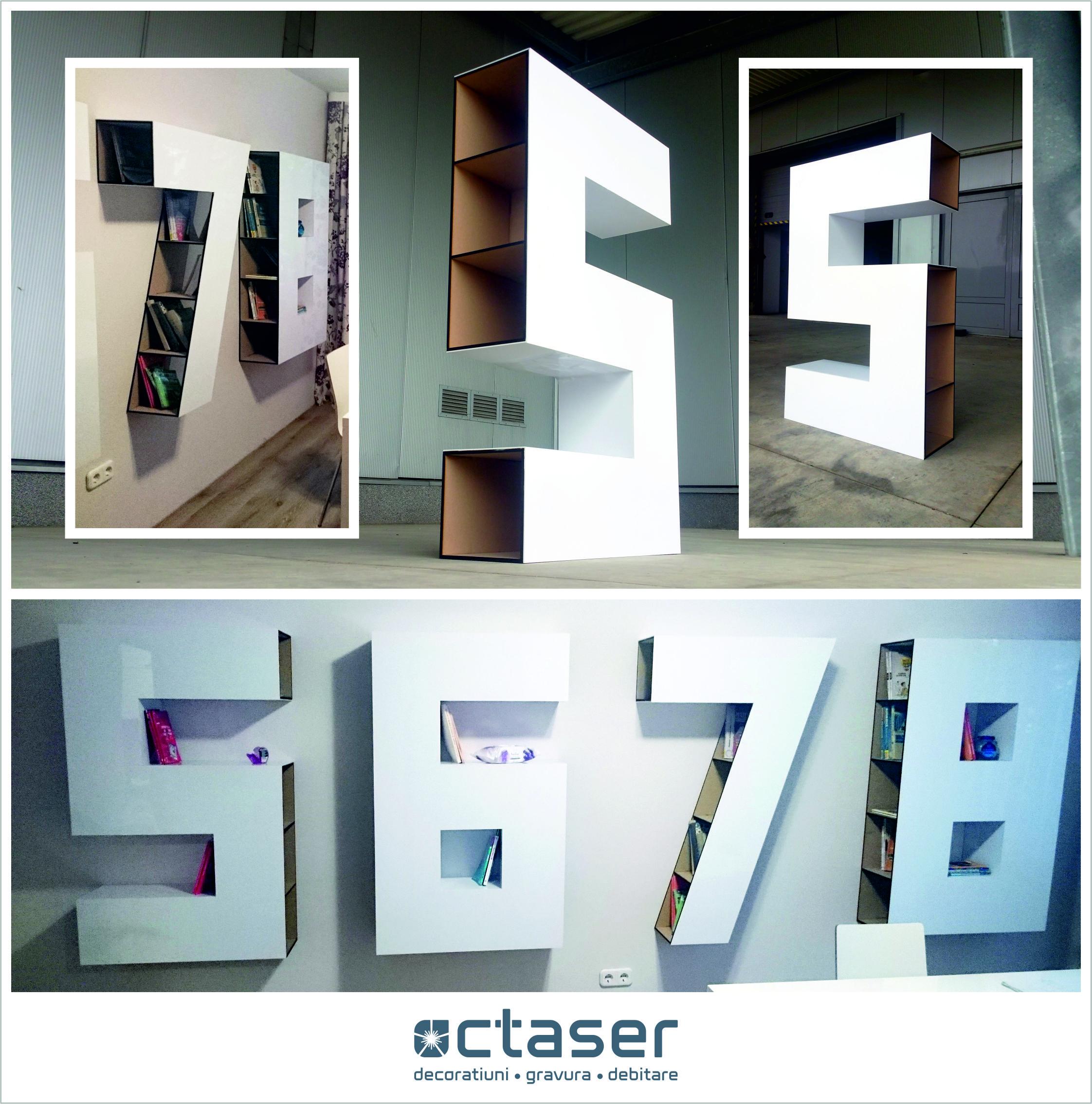 decoratiuni interioare mobilier cifre mdf plexiglas alb octaser oradea
