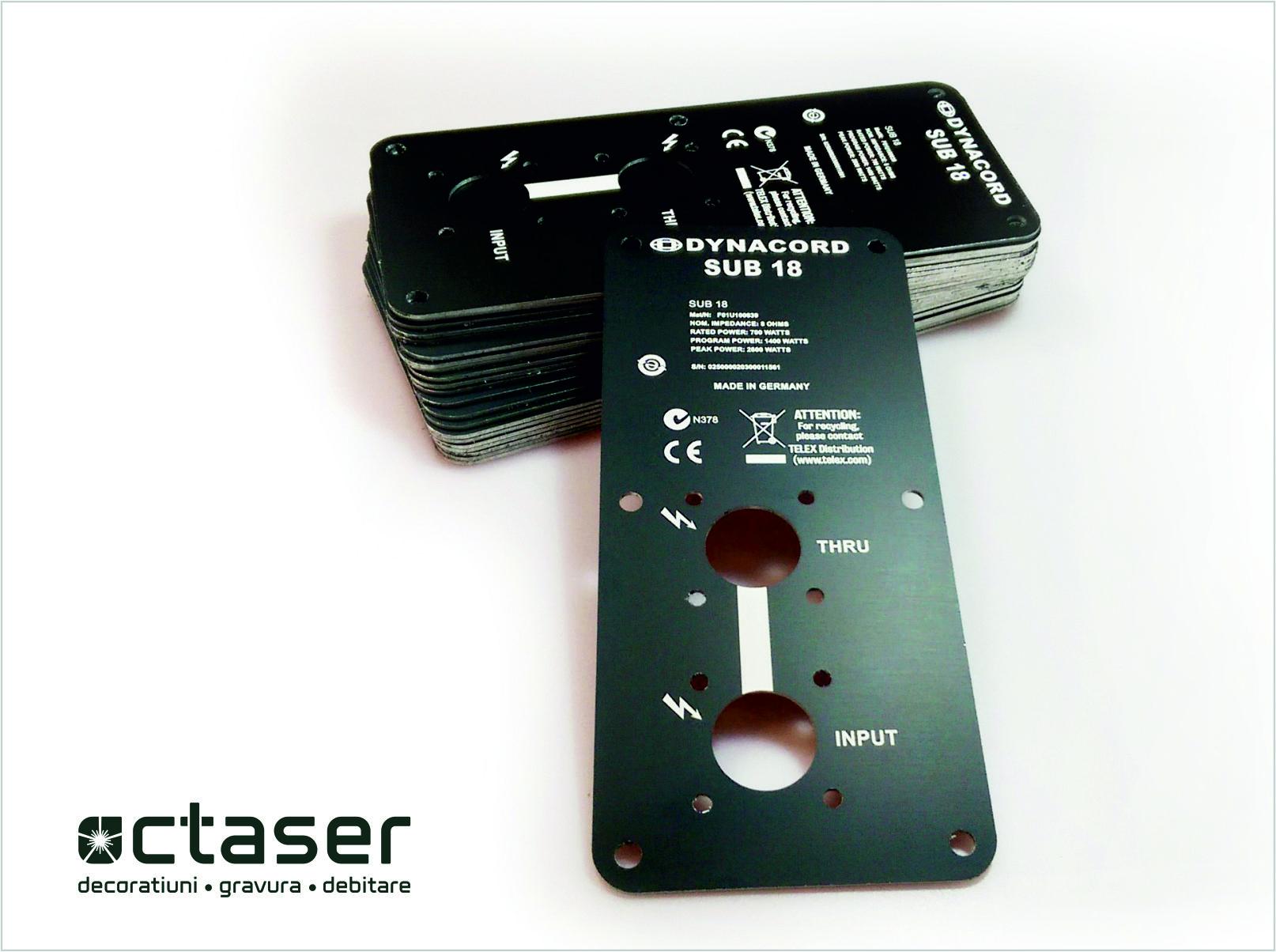 panou comanda aluminiu debitare laser gravare laser octaser