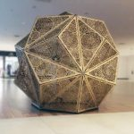 Obiect decorativ geometric Icosaedru stelat