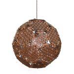 Lampa poliedrala cu model Flower of Life debitata laser